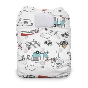 thirsties one size all in one happy camper klittenband