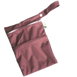 little lamb wet/dry bag aubergine
